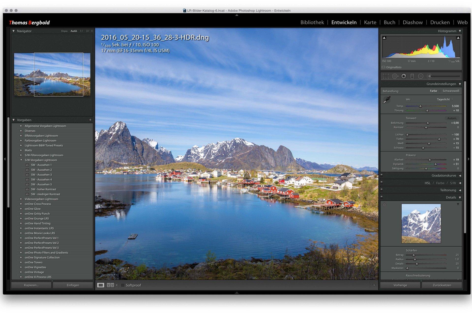 Thomas Bergbold Adobe Lightroom für Einsteiger