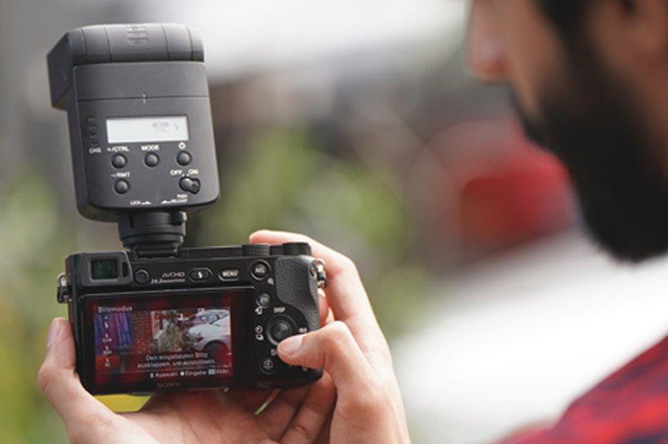 Sony Portrait und Blitz